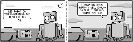 Comicstrip Robots